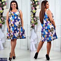 Летнее платье большого размера батал р. 50-52, 54-56
