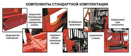 Прицеп лесовозный RDM-12(4WD) с манипулятором (Weimer), фото 2