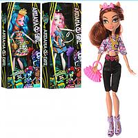 Лялька DH2148 шарнірна, сумочка, гребінець, 3 види, в коробці, 32-14,5-5 см