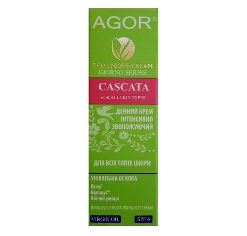 Крем для лица дневной Cascata интенсивно увлажняющий для всех типов кожи Agor, 50 мл, фото 2