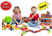 Конструктор Липучка (Банчемс) BUNCHEMS 500 деталей, развивающий детский конструктор