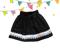 Модная детская школьная юбка Гепюр
