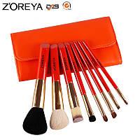 Z'OREYA Набор 8 шт профессиональных кистей Zoreya ZM86 (оранжевый) в чехле