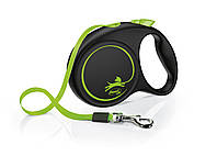 Flexi Fun M Limited Edition лента 5 метров до 25 кг поводок-рулетка для собак неоновый зеленый
