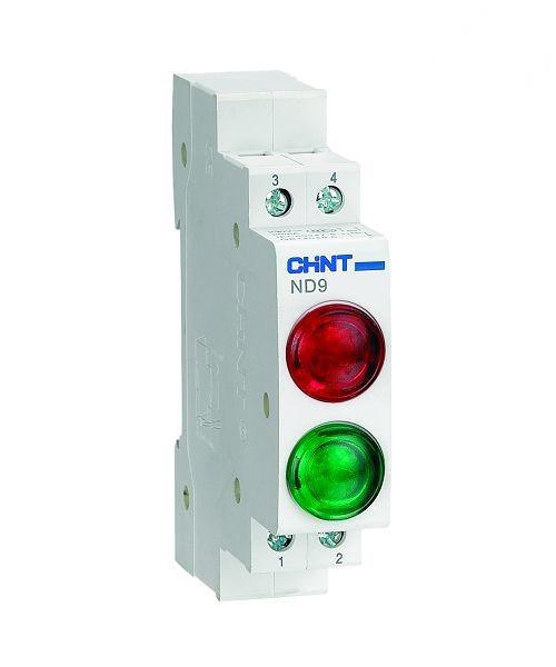 Индикатор на DIN-рейку ND9 LED 6,3V с двойным индикатором CHINT