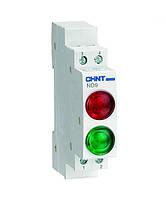 Индикатор на DIN-рейку ND9 LED 6,3V с двойным индикатором CHINT, фото 1