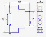 Индикатор на DIN-рейку ND9 LED 6,3V с двойным индикатором CHINT, фото 2