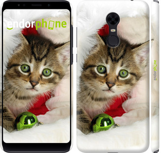 "Чехол на Xiaomi Redmi 5 Plus Новогодний котёнок в шапке ""494c-1347-571"""