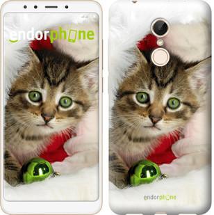 """Чехол на Xiaomi Redmi 5 Новогодний котёнок в шапке """"494c-1350-571"""""""