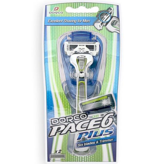 Станок для бритья DORCO PACE 6 Plus (SXA 5000), 2 картриджа D0012