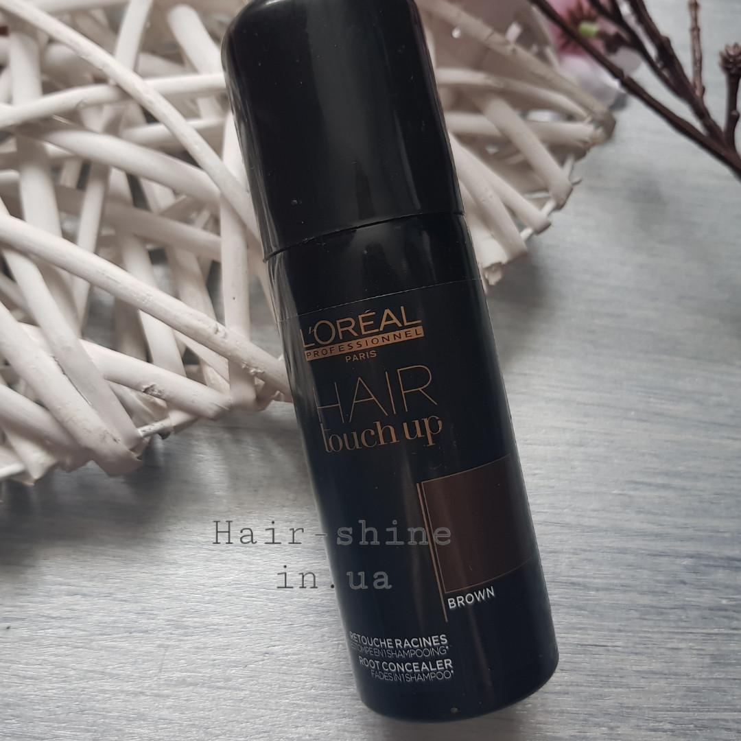 Консилер для волос -L'Oreal Professionnel Hair Touch Up Brown - коричневый 75 мл.