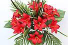 Искусственные цветы - Ритуальный букет лилия с папоротником, фото 6
