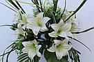 Искусственные цветы - Ритуальный букет лилия с папоротником, фото 8