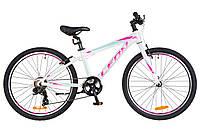 """Детский велосипед Leon Junior 24"""" бело-розовый"""