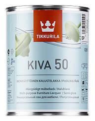 Лак мебельный полуглянцевый Tikkurila KIVA 50 0.9L