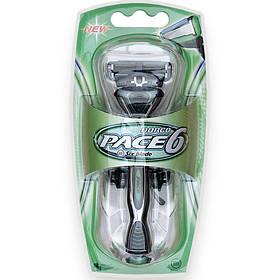 Станок для гоління DORCO PACE 6 (SXA 1000), 2 картриджа D0010
