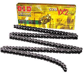 Цепь приводная DID 520 VX2 - 116 ZB (черная)