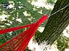 Одноместный подвесной гамак 100х190 см, хлопок, нагрузка до 100 кг. Одноместный тканевый гамак., фото 4
