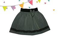 Серая школьная юбка для девочки на 6 лет Гепюр
