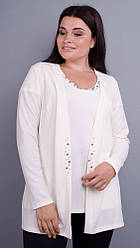 Дона. Жакет+блуза для женщин больших размеров. 58 60 62 64