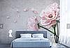 """3D фотообои """"Нежно-розовый цветок"""""""