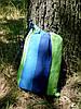 Одноместный подвесной гамак 100х190 см, хлопок, нагрузка до 100 кг. Одноместный тканевый гамак., фото 6