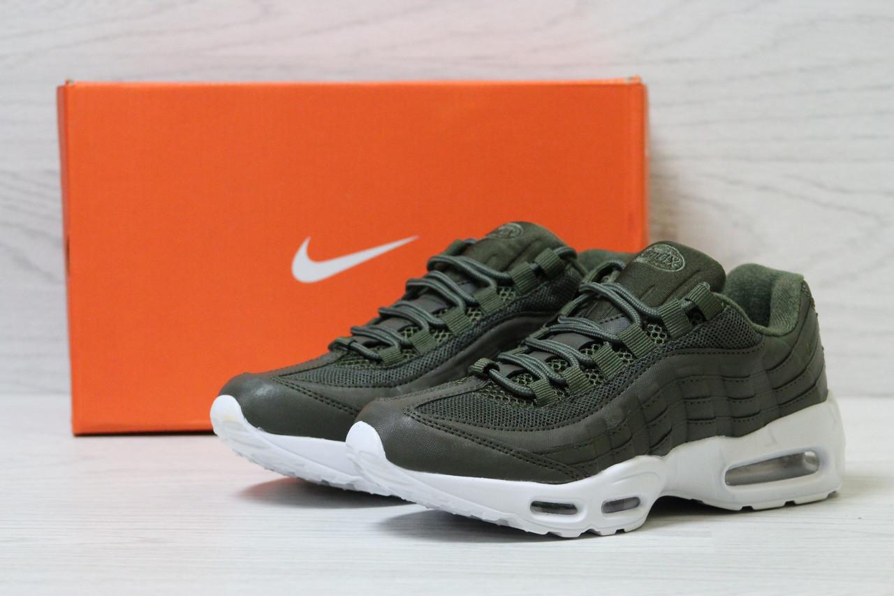 Модні спортивні жіночі кросівки Nike 95 (зелені), ТОП-репліка