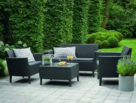 Набор мебели, Salemo set, графит - прохладный серый, фото 2