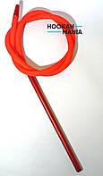 Силиконовый шланг для кальяна Soft touch матовый красный