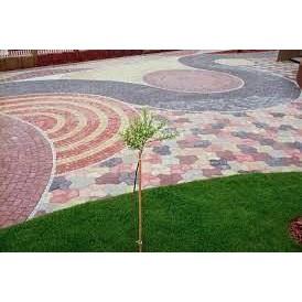 Декоративная укладка тротуарной плитки