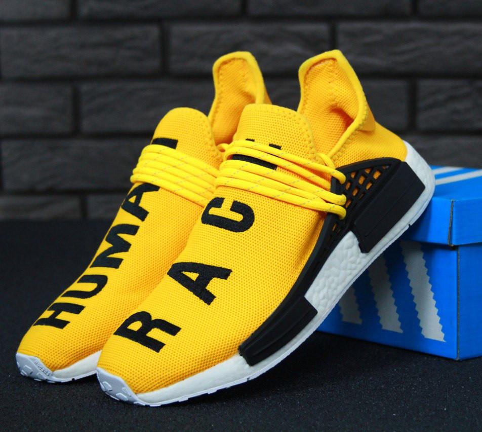 ec3067e8f4eb7b Кроссовки в стиле Adidas x Pharrell Williams Human Race NMD Trail Yellow  мужские