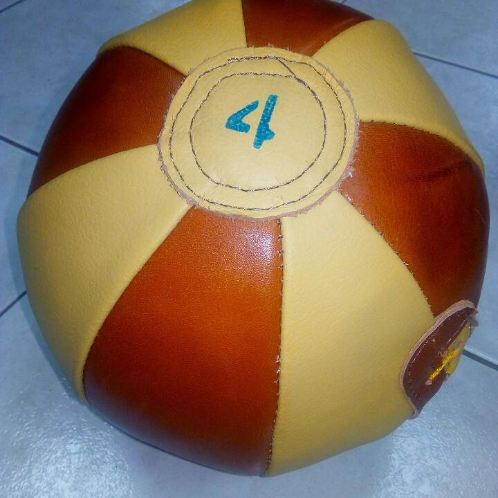 Медбол 4 кг натуральная кожа