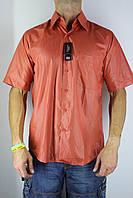 Рубашка мужская S кирпичная
