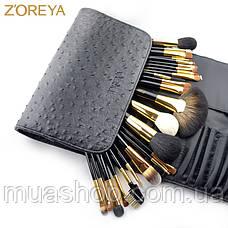 Натуральные кисти Z'OREYA  24 шт в чехле (Черный), фото 3