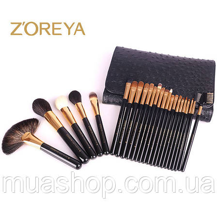 Натуральные кисти Z'OREYA  24 шт в чехле (Черный), фото 2