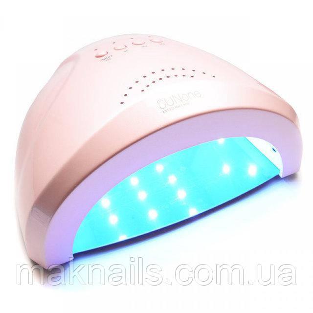 Гибридная светодиодная UV/LED лампа SunOne 48 Вт. Розовая