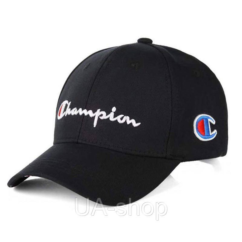 Чёрная бейсболка кепка Champion b64a4250b062f