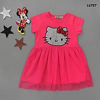 Летнее платье Hello Kitty для девочки. 1-2;  7-8 лет, фото 1