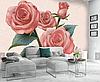 """3D фотообои """"Малиновые розы"""""""