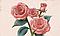 """3D фотообои """"Малиновые розы"""", фото 2"""