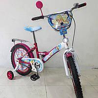 Детский Велосипед TILLY Чарівниця 18 T-21828 crimson + white, Велосипед с боковыми колесами
