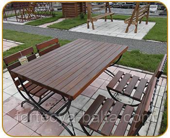 Садовый гарнитур (стулья и стол садовые)