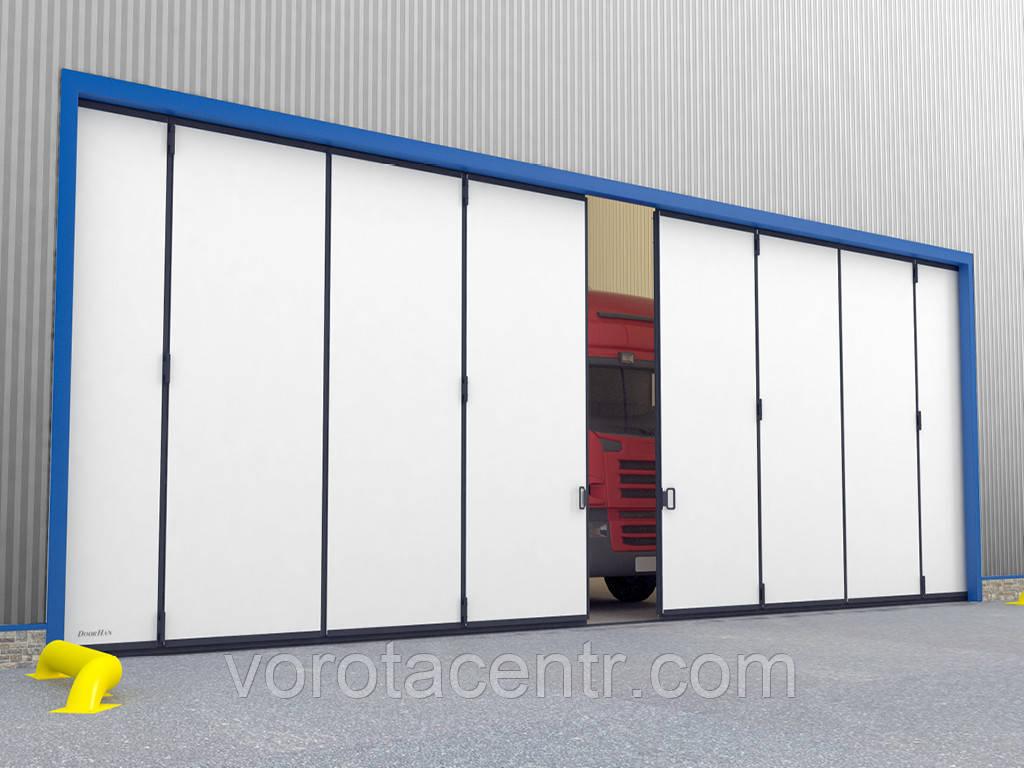 Промышленные откатные ворота с нижней направляющей DoorHan