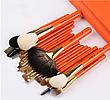 Набор профессиональных кистей Z'OREYA 22 шт в чехле (Оранжевый), фото 4