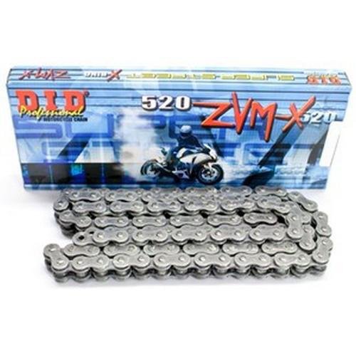 Цепь приводная DID 520 ZVMX - 104 ZB стальная (черная)