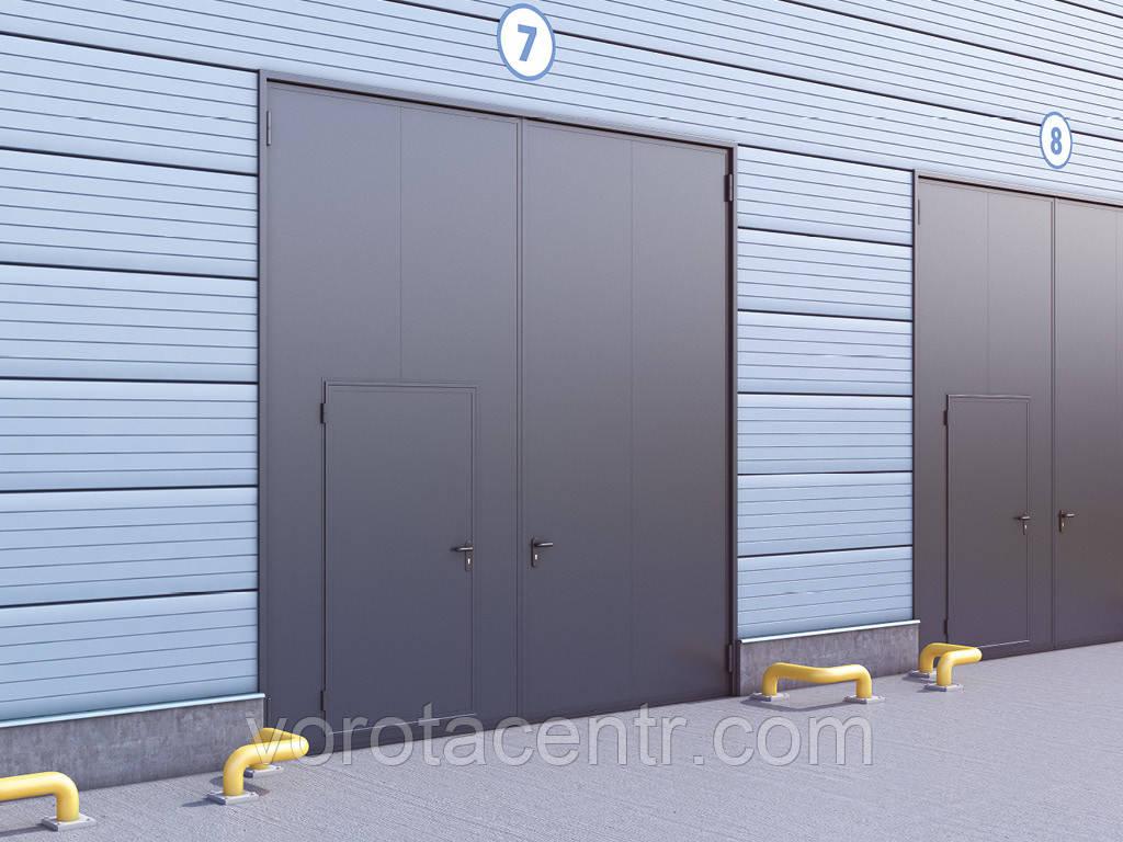 Розпашні гаражні ворота у сталевій рамі з сендвіч-панеллю DoorHan