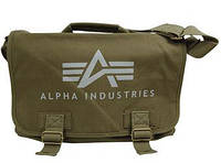 Сумка Alpha Industries Big A Canvas Courier Bag (Olive), фото 1