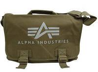 Сумка Alpha Industries Big A Canvas Courier Bag (Olive)