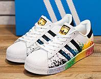 Кроссовки мужские Adidas Superstar 30793 адидас суперстар Реплика