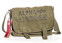 Сумка Alpha Industries Cargo Canvas Courier Bag (Olive), фото 1